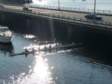 rowing under bridge  new bedford