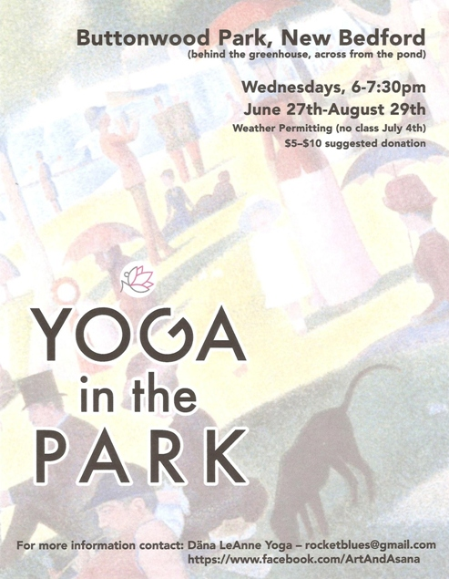 Yoga in the Park - Buttonwood Park New Bedford Flier