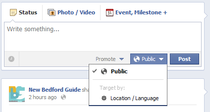 Facebook Promoted Posts Location and Language