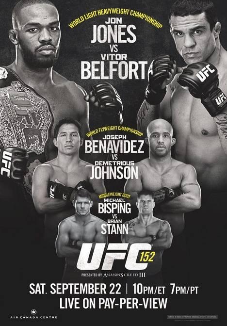 UFC 152 Poster