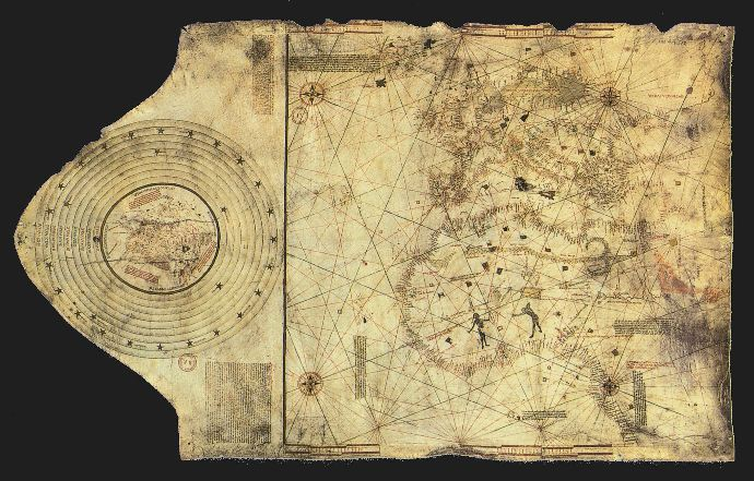 Christopher Columbus's map drawn in 1490.