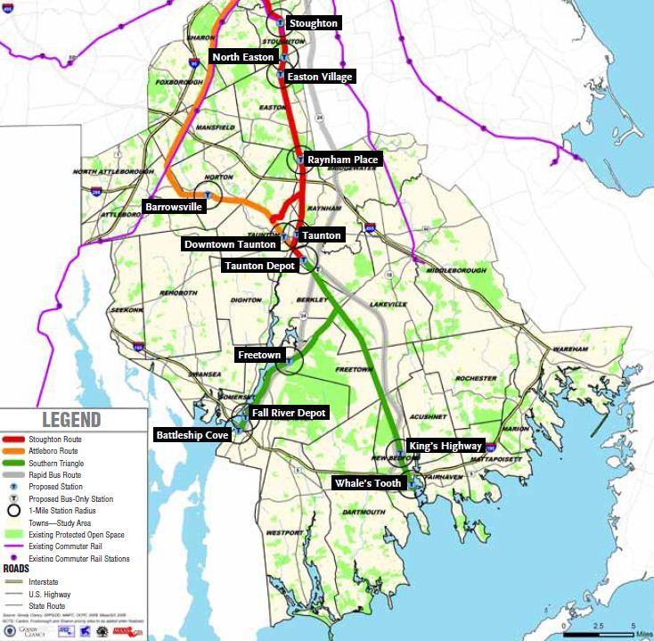 South Coast Rail Stations Map