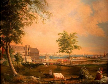 Another View of Wamsutta & Waterfront by William Allen Wall