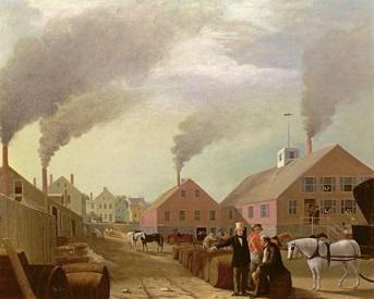Leonard Oil Works by William Allen Wall