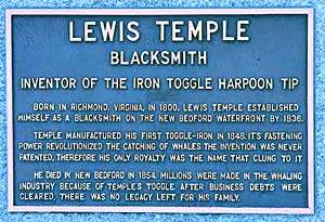 Lewis temple Statue plaque