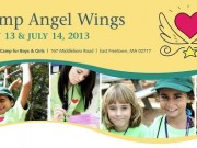 camp angel wings poster