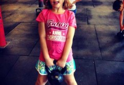 crossfit NB little girl and kettlebell
