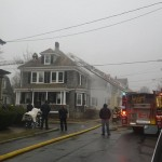House fire on 55 Rounds Street in New Bedford. Photo by Jeff Costa.
