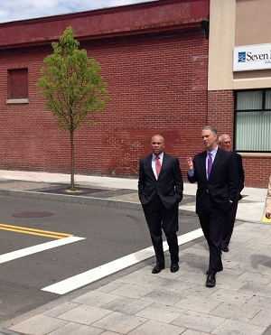 Governor Patrick and Mayor  Mitchell Tour Acushnet Avenue in New Bedford
