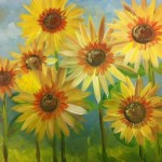 painting with a splash sunflowers