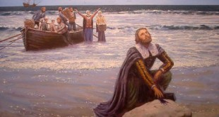 The-Pilgrims-Landing Painting by Dr Mike Haywood