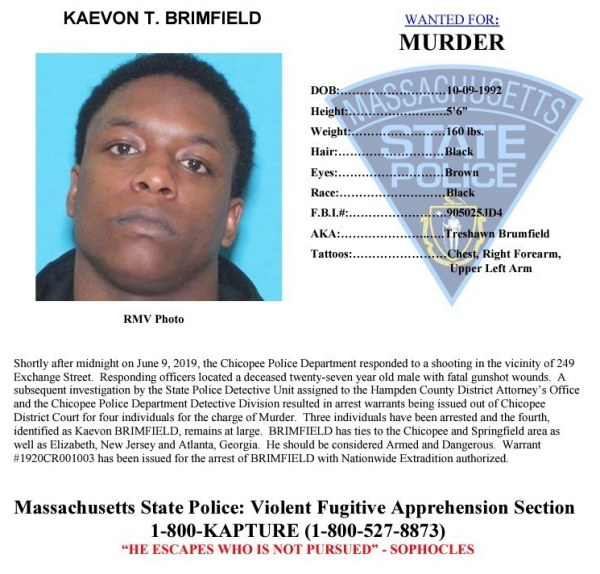 Massachusetts State Police add Chicopee murder suspect to