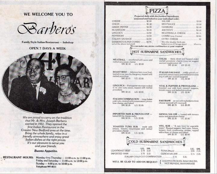 Who Remembers Barbero S Pizza New Bedford Guide