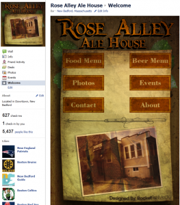 Rose Alley Ale House Facebook Page