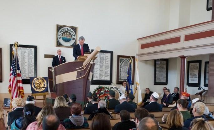 Mayor Scott Lang at the Seamen's Bethel in New Bedford