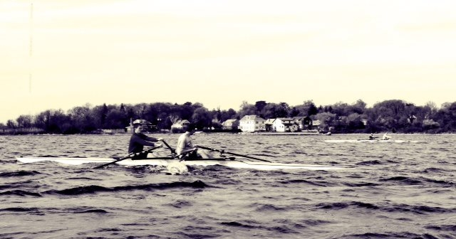 Rowing in New Bedford Harbor