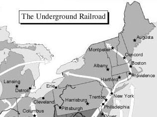 Underground Railroad Map