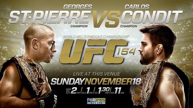 UFC 154 Poster