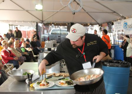 Tuesday April 9 - Sustainable Seafood Cooking with Henry Bousquet.