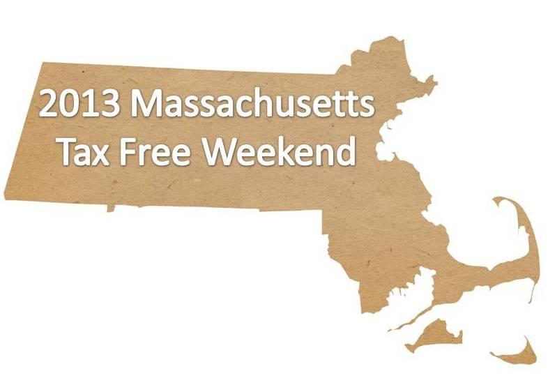Massachusetts Tax Free Weekend 2013