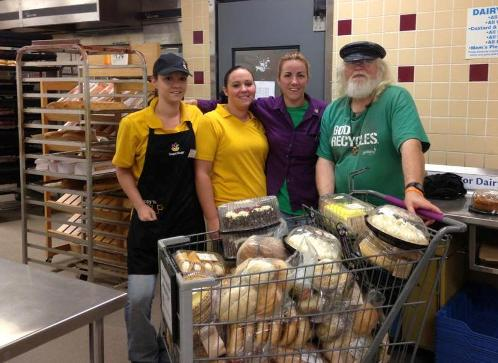 Rev. Russ picking up donated bread from Stop & Shop in Fairhaven.