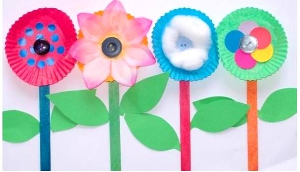 Paper Plate Flower Craft \u2013 South Branch : paper plate flower craft - pezcame.com