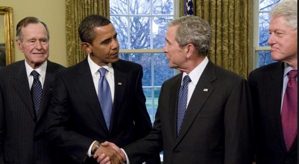 Image result for bush bush clinton obama