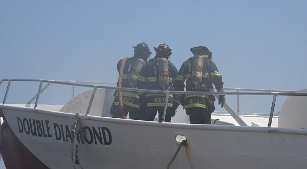New Bedford Firefighters Respond To Double Diamond Boat