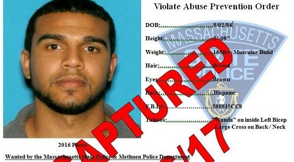 Massachusetts State Police Most Wanted List suspect captured