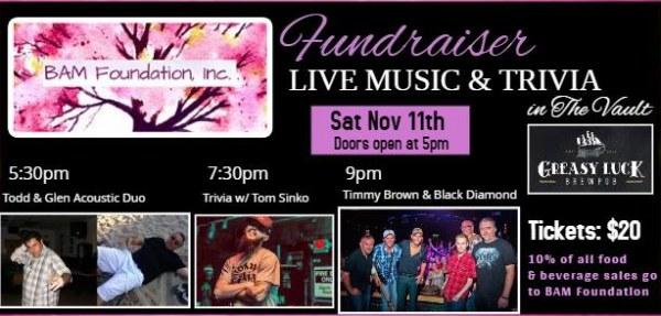 "Cancer Treatment Fundraiser ""Music & Trivia Night"" The Vault"