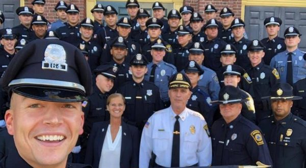 New police officers enter the field as the Plymouth Police